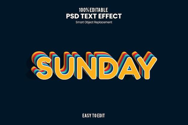 Efekt tekstowy w niedzielę