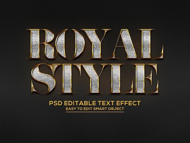 Efekt tekstowy w stylu królewskim 3d