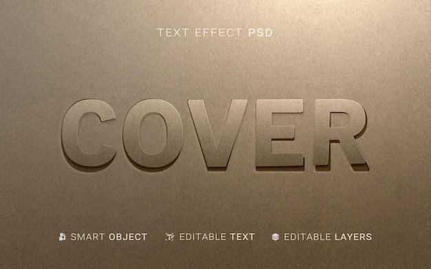 Efekt tekstowy w stylu papieru