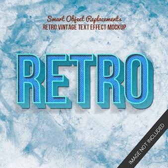 Efekt tekstowy w stylu retro vintage