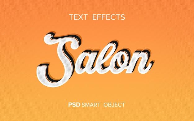 Efekt tekstowy w stylu retro
