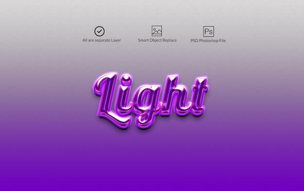 Efekt tekstowy w stylu warstwy light photoshop