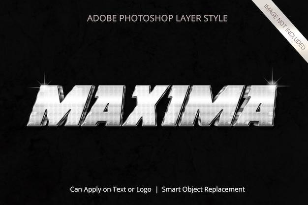 Efekt tekstowy w stylu warstwy programu adobe photoshop