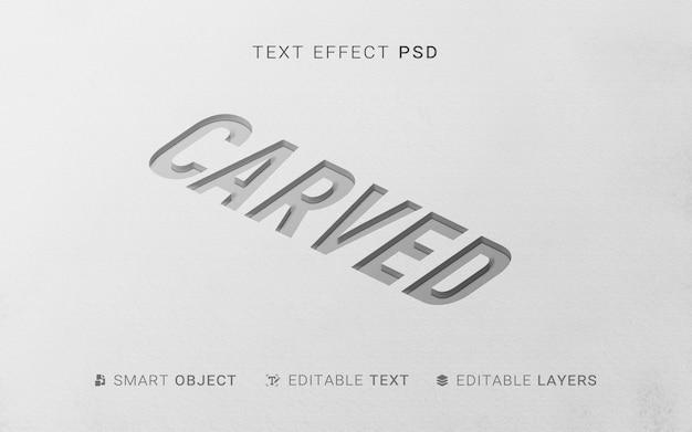 Efekt tekstowy w stylu wytłaczania