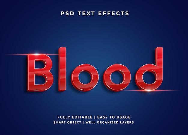 Efekt tekstowy wektora krwi