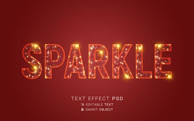 Efekt tekstowy z projektem cząstek