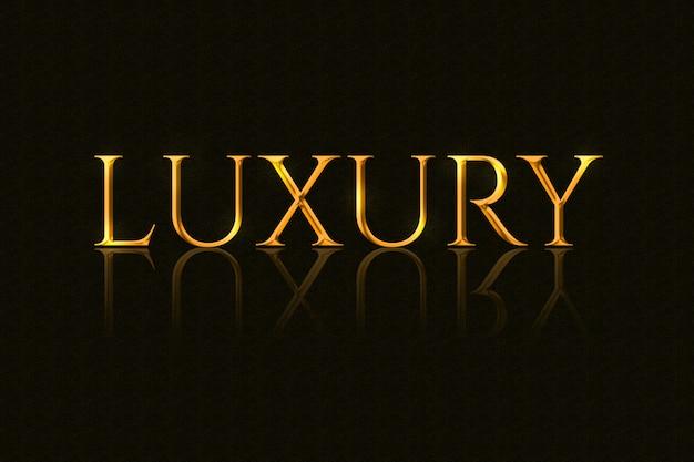 Efekt tekstowy złoty luksusowy