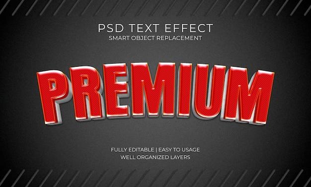 Efekt tekstowy znaku premium