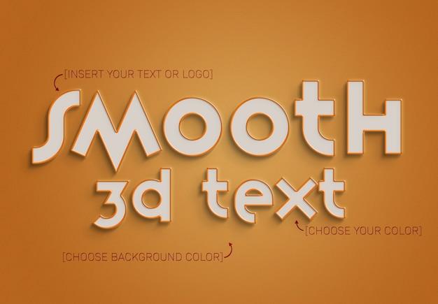 Efekt tekstu 3d z obrysem i w pełni edytowalnym kolorem