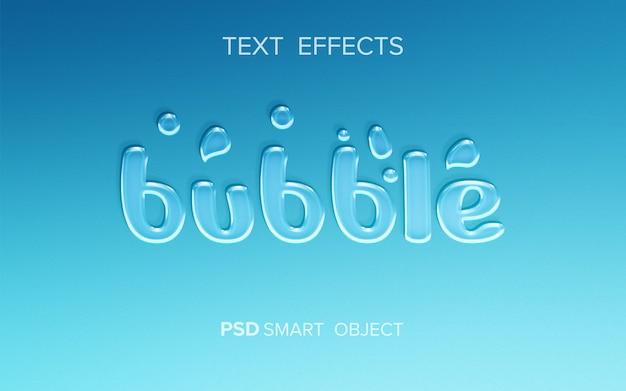 Efekt Tekstu Bąbelkowego Premium Psd