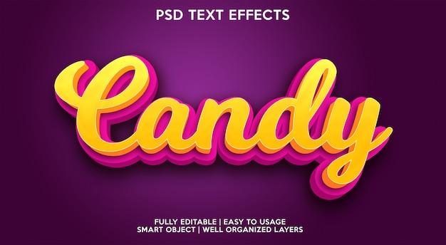 Efekt tekstu cukierków