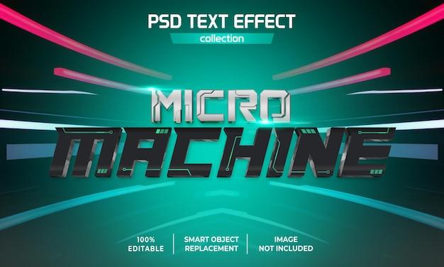 Efekt tekstu gry na mikromaszynę