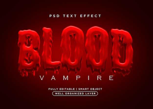 Efekt tekstu krwi w stylu 3d