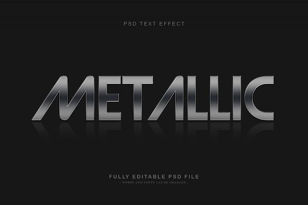 Efekt tekstu metalicznego