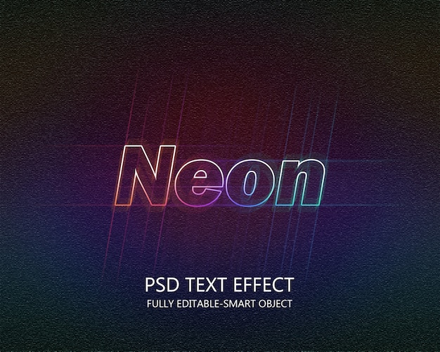Efekt tekstu neonowego