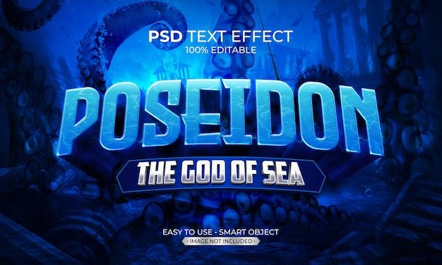Efekt Tekstu Poseidona Premium Psd
