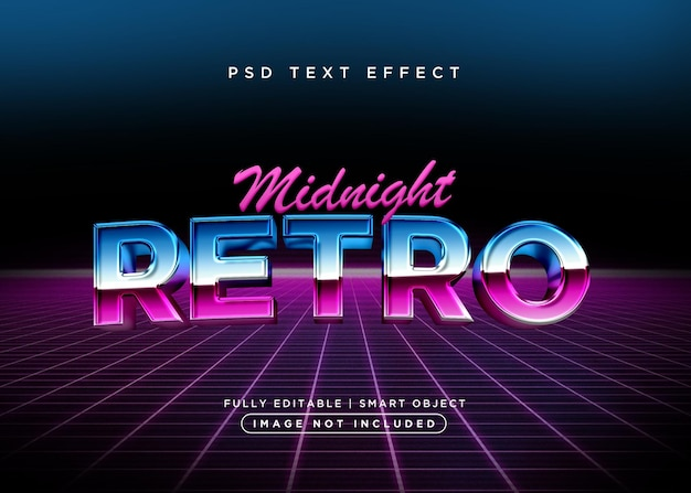 Efekt tekstu retro w stylu 3d