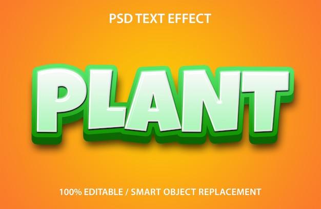 Efekt tekstu roślinnego