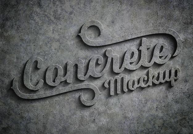 Efekt tekstu tłoczonego betonu 3d makieta