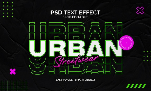 Efekt tekstu urban stretwear