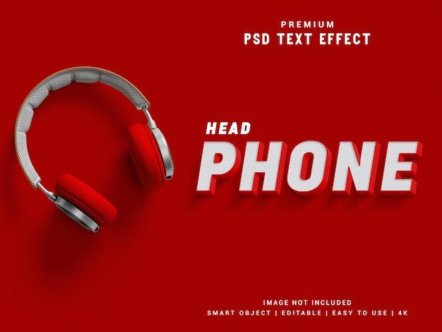 Efekt tekstu w słuchawkach