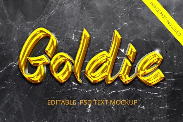 Efekt tekstu w złotym stylu