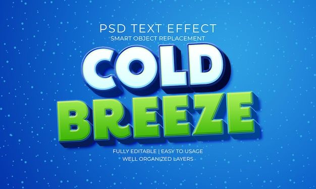 Efekt tekstu zimnej bryzy
