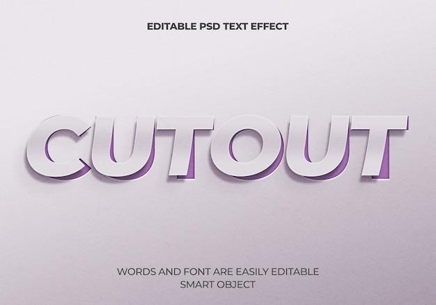 Efekt wycinania tekstu