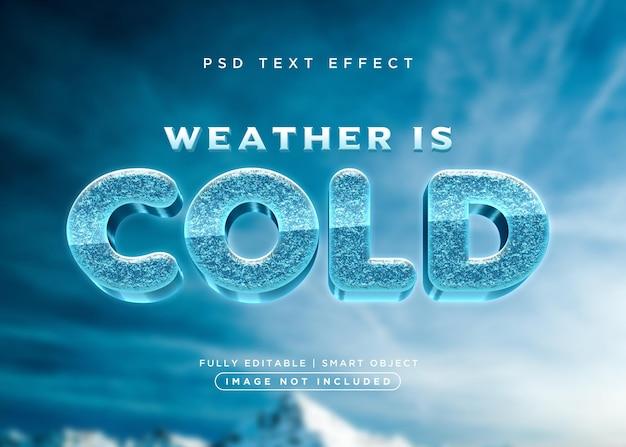Efekt zimnego tekstu w stylu 3d