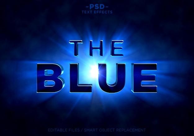 Efekty promieni świetlnych niebieskiego blasku