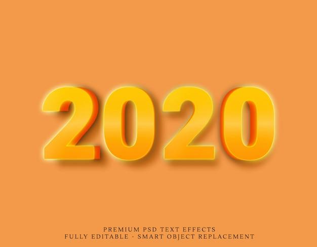 Efekty tekstowe 2020