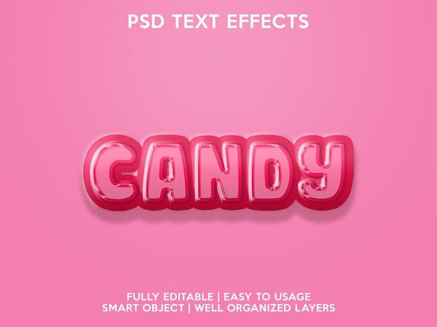 Efekty tekstowe cukierków