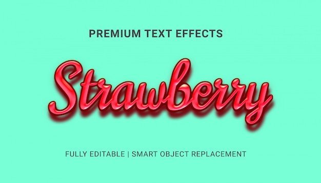 Efekty tekstowe truskawek