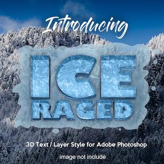 Efekty tekstowe w stylu 3d photoshop frozen ice
