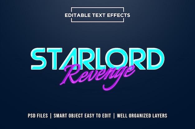 Efekty tekstowe zemsty starlorda