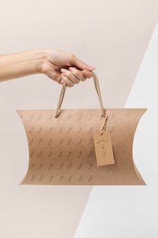 Ekologiczna makieta torby do pakowania