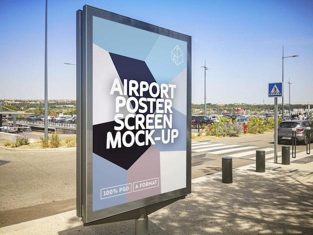 Ekran plakatu lotniska
