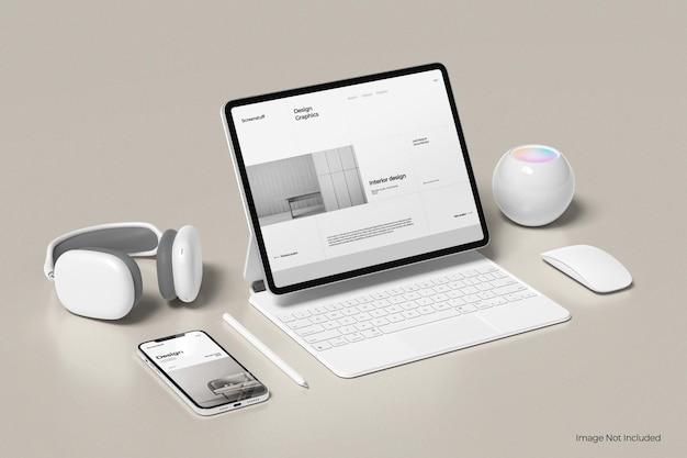 Ekran tabletu i makieta telefonu