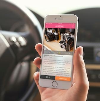 Ekran telefon komórkowy makiety projektu