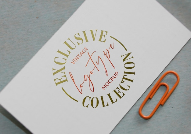Ekskluzywna kolekcja makiet vintage logotype