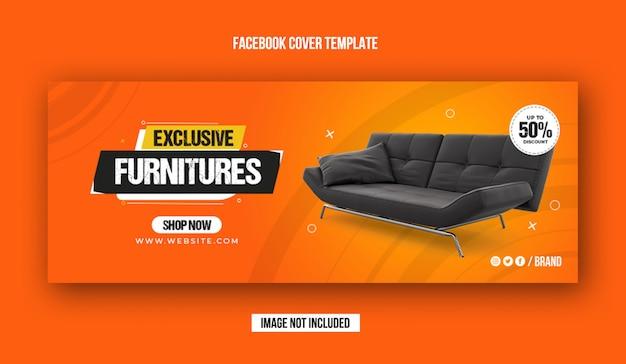 Ekskluzywny szablon okładki na facebook sprzedaż mebli