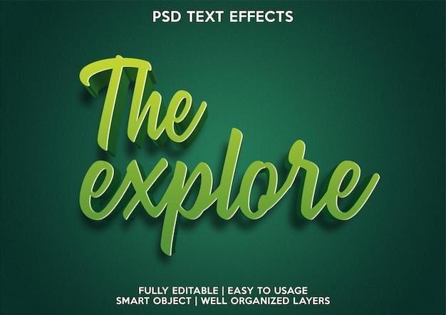 Eksploruj efekt tekstowy