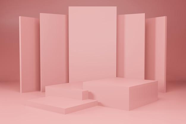 Elegancja renderowania 3d makieta tła wyświetlania