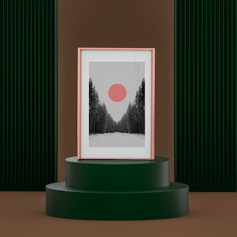 Elegancka koncepcja sceny z makiety plakatu