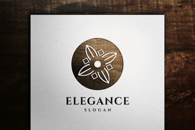 Elegancka makieta logo na papierze