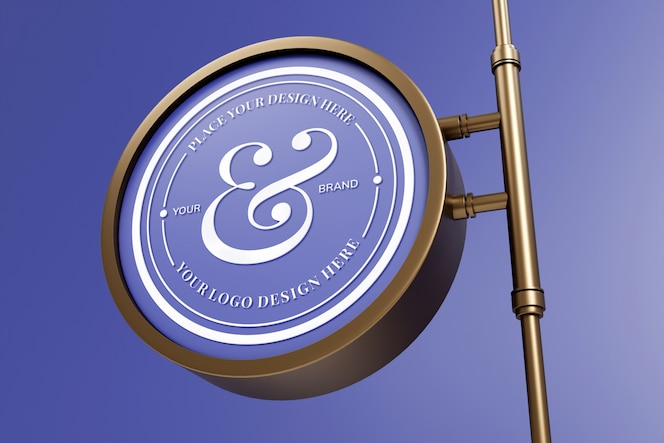 elegancka makieta znaku logo