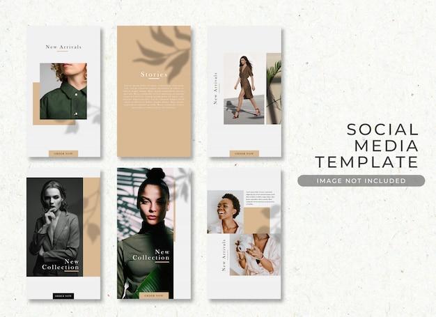 Elegancka moda sprzedaż instagram historia post szablon premium psd