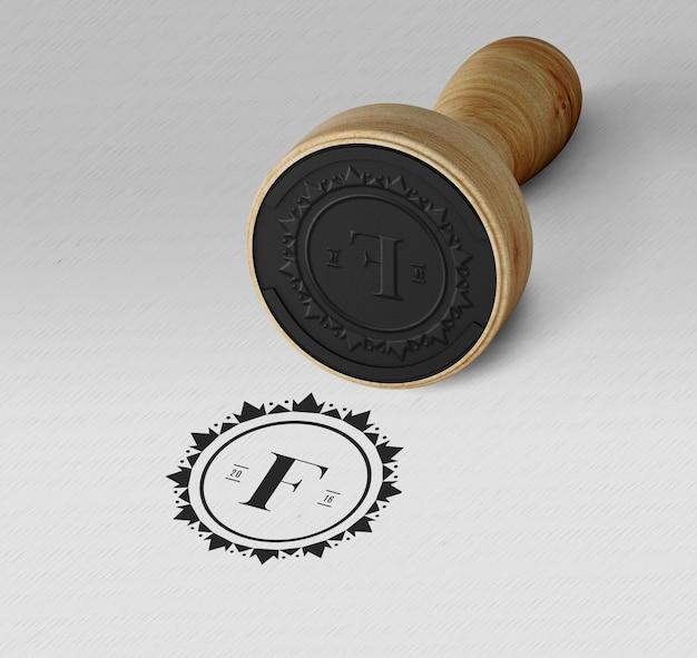 Elegancka pieczęć lub znaczek makieta