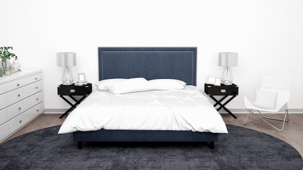 Elegancka sypialnia lub pokój hotelowy z klasycznymi meblami
