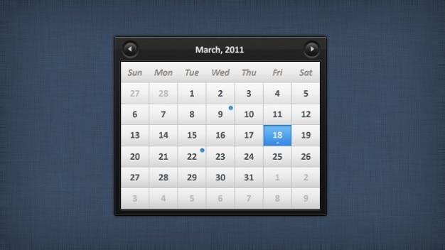 Elegancki kalendarz psd